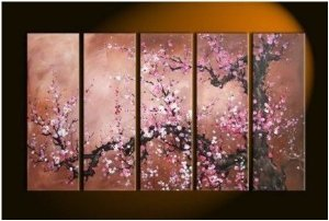Blooming Blossom Painting Decoration Unstretch