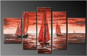 Sailling Abstract Painting Decoration Unstretch