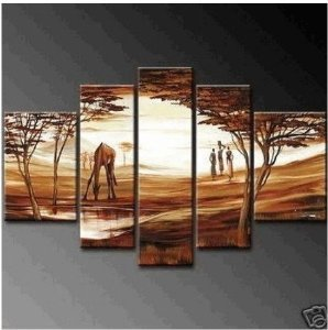 Abstract Painting Decoration Grassland Unstretch