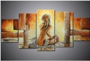 Beautiful Abstract Painting Decoration Unstretch
