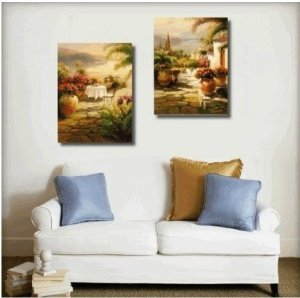 Italian Tuscany Painting Decoration Unstretch