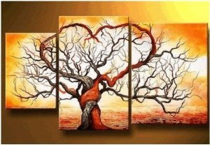 Modern Painted Painting Decoration Unstretch