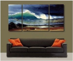 Paciffic Seascape Painting Decoration Unstretch