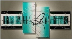 Dancing Abstract Painting Decoration Unstretch