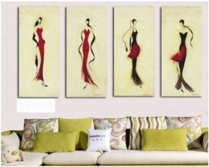 Abstract Painting Decoration Beautiful Stretched