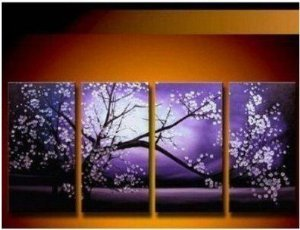 Blossom Abstract Painting Decoration Unstretch