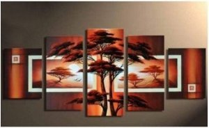 Grassland Abstract Painting Decoration Unstretch
