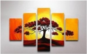 Sunrise Abstract Painting Decoration Unstretch