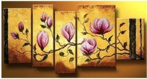 Flowers Abstract Painting Decoration Unstretch