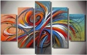 Colorful Abstract Painting Decoration Unstretch