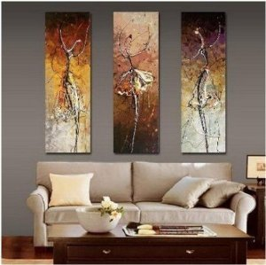 Dancers Abstract Painting Decoration Stretched