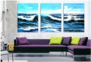 Pacific Abstract Painting Decoration Unstretch