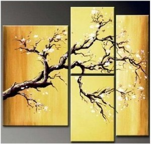 Abstract Painting Decoration Blooming Stretched