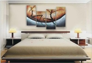 Modern Abstract Painting Stretched Ready
